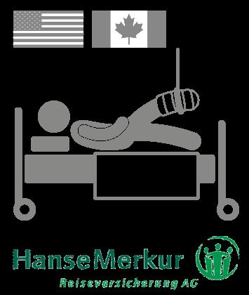 Eine Auslandskrankenversicherung ist besonders in den USA und Kanada extrem wichtig, da die medizinsiche Versorgung sehr teuer ist!