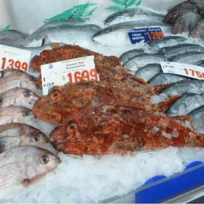 Fische auf dem Fischmarkt Sydney