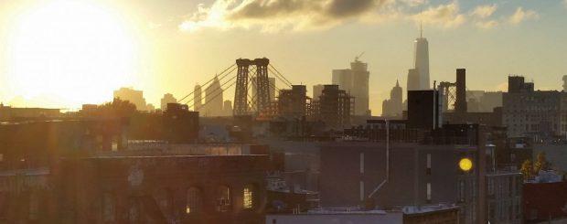 Blick auf die Williamsburg Bridge in Brooklyn