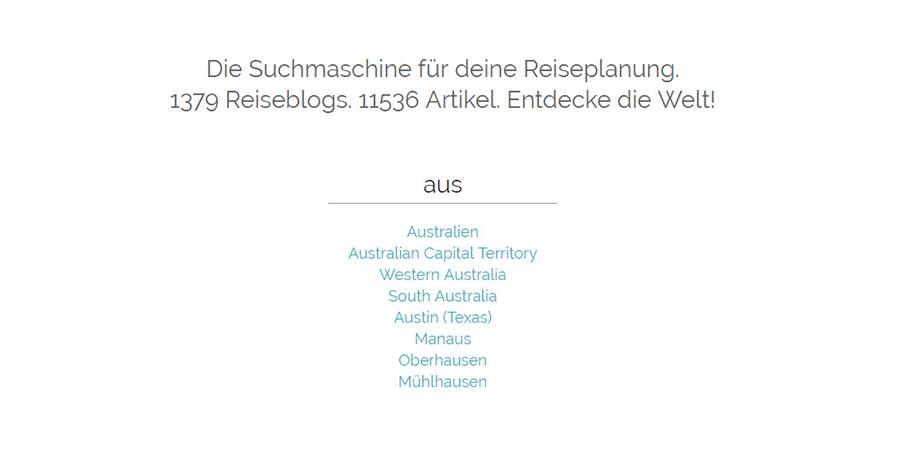 Die Reiseblog-Suchmaschine reise2punktnull.de