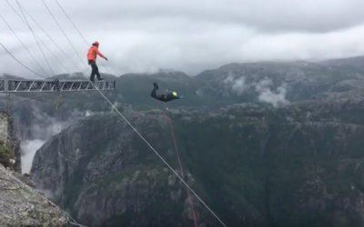 Rope Jump in Norwegen