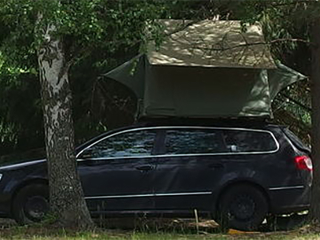 Wendekreise Kombi+Dachzelt Camper